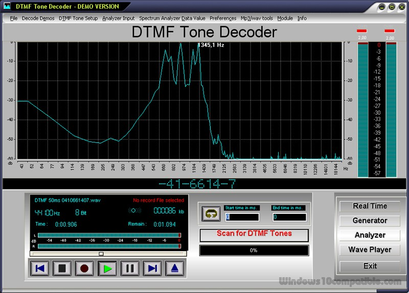 DTMF Tone Decoder 2015 Free download